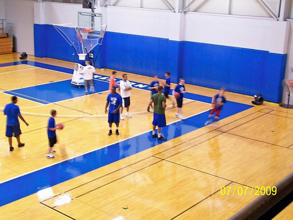 court basketball dimensions camp
